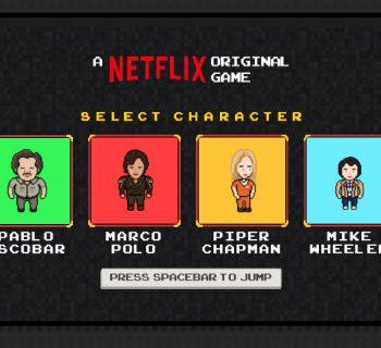 O novo game Flixarcade traz personagens das séries exclusivas do Netflix.