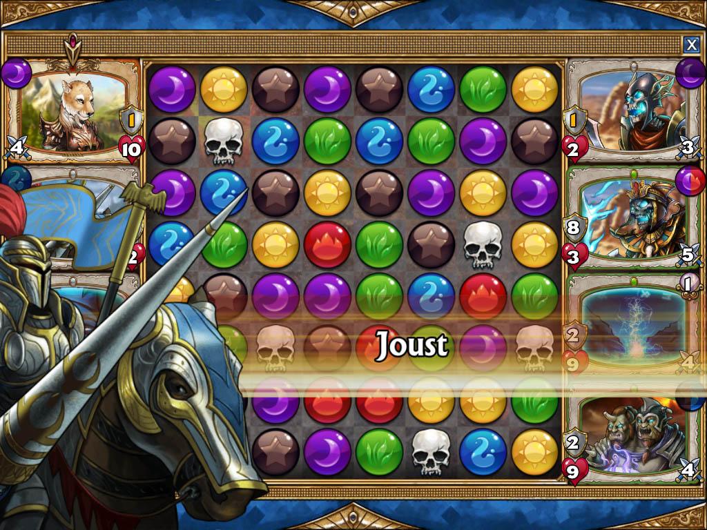 Gems of War é um puzzle game que mistura boas doses de RPG e card game.