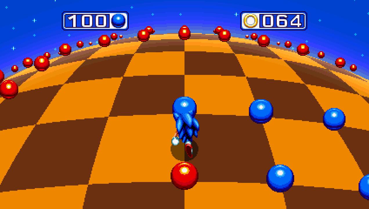 Tela bônus Blue Sphere sonic mania