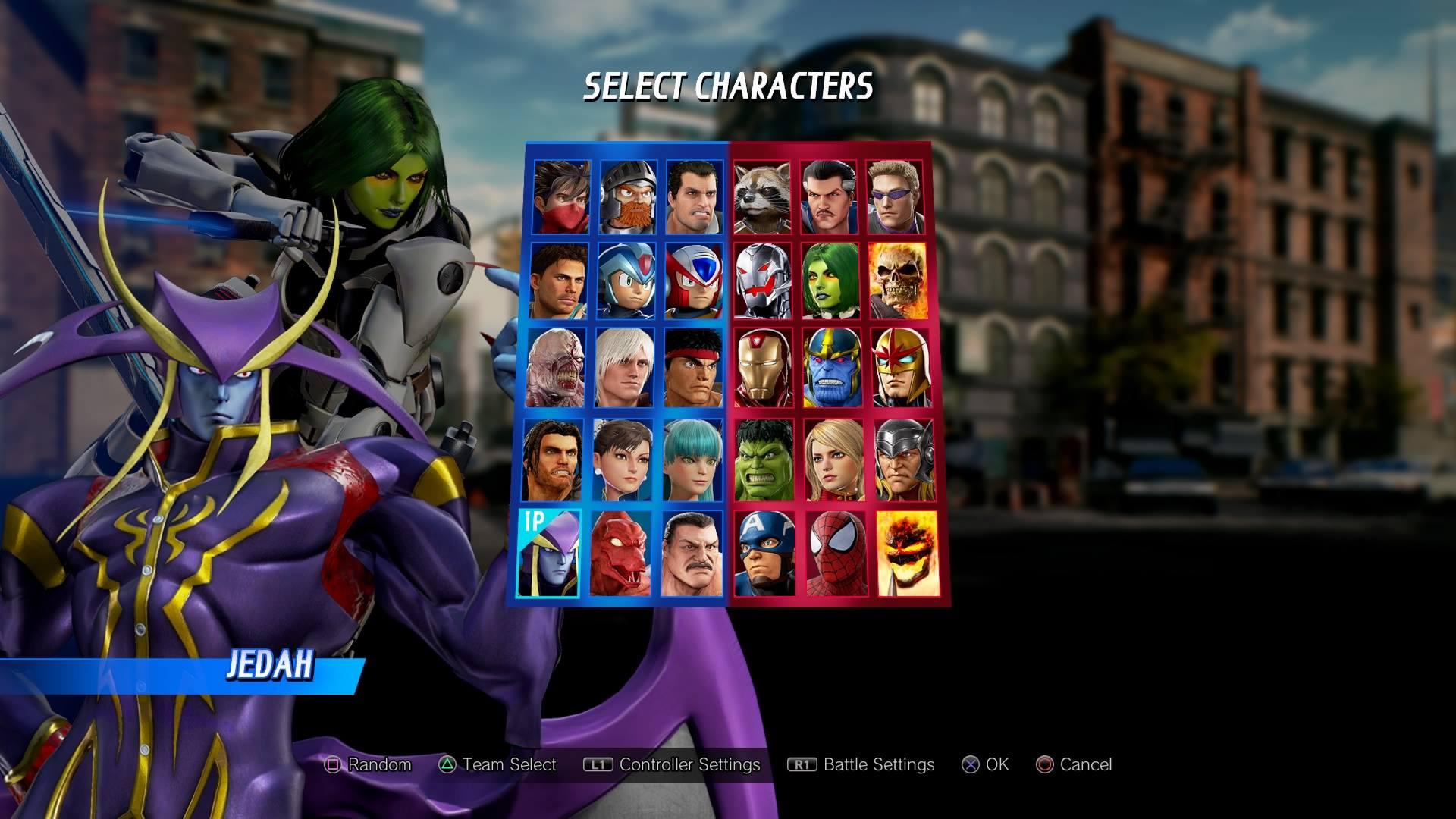 Marvel vs Capcom Infinite Roster