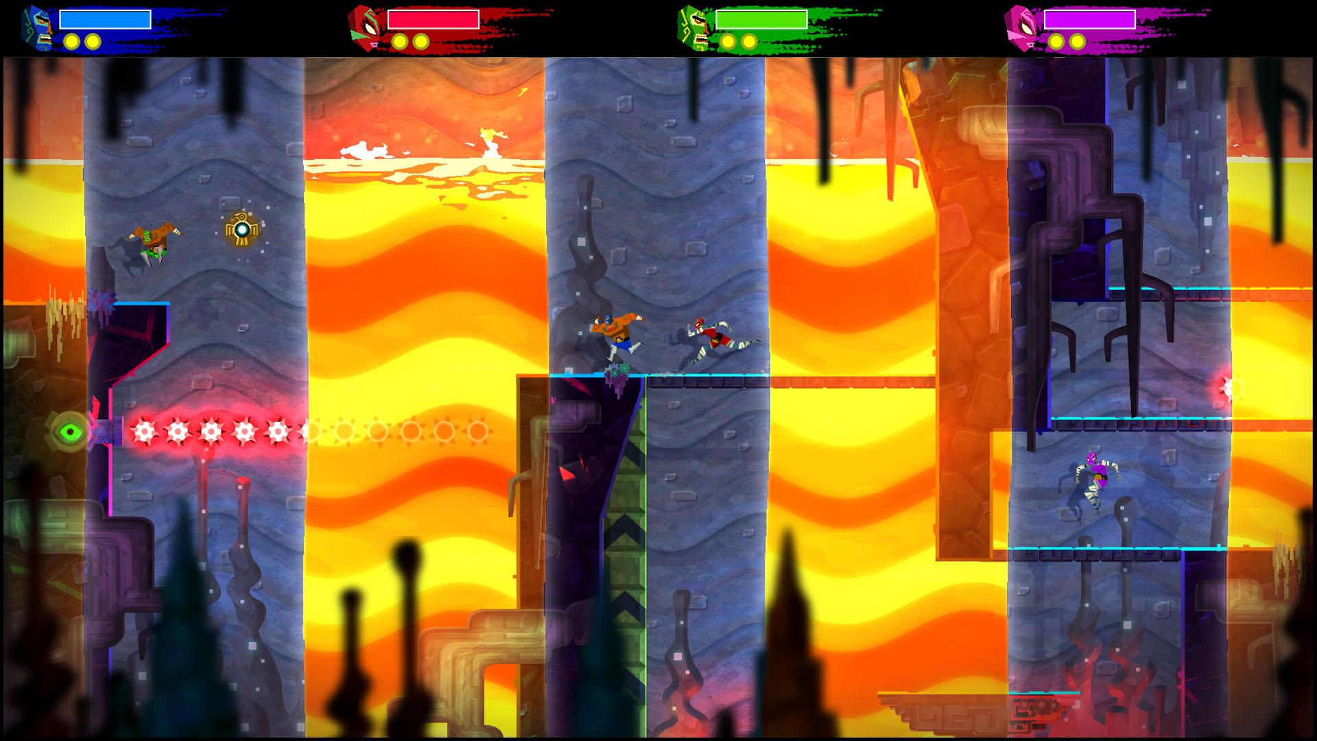 """As """"Dimension Waves"""" prometem enlouquecer o jogador em Guacamelee! 2."""